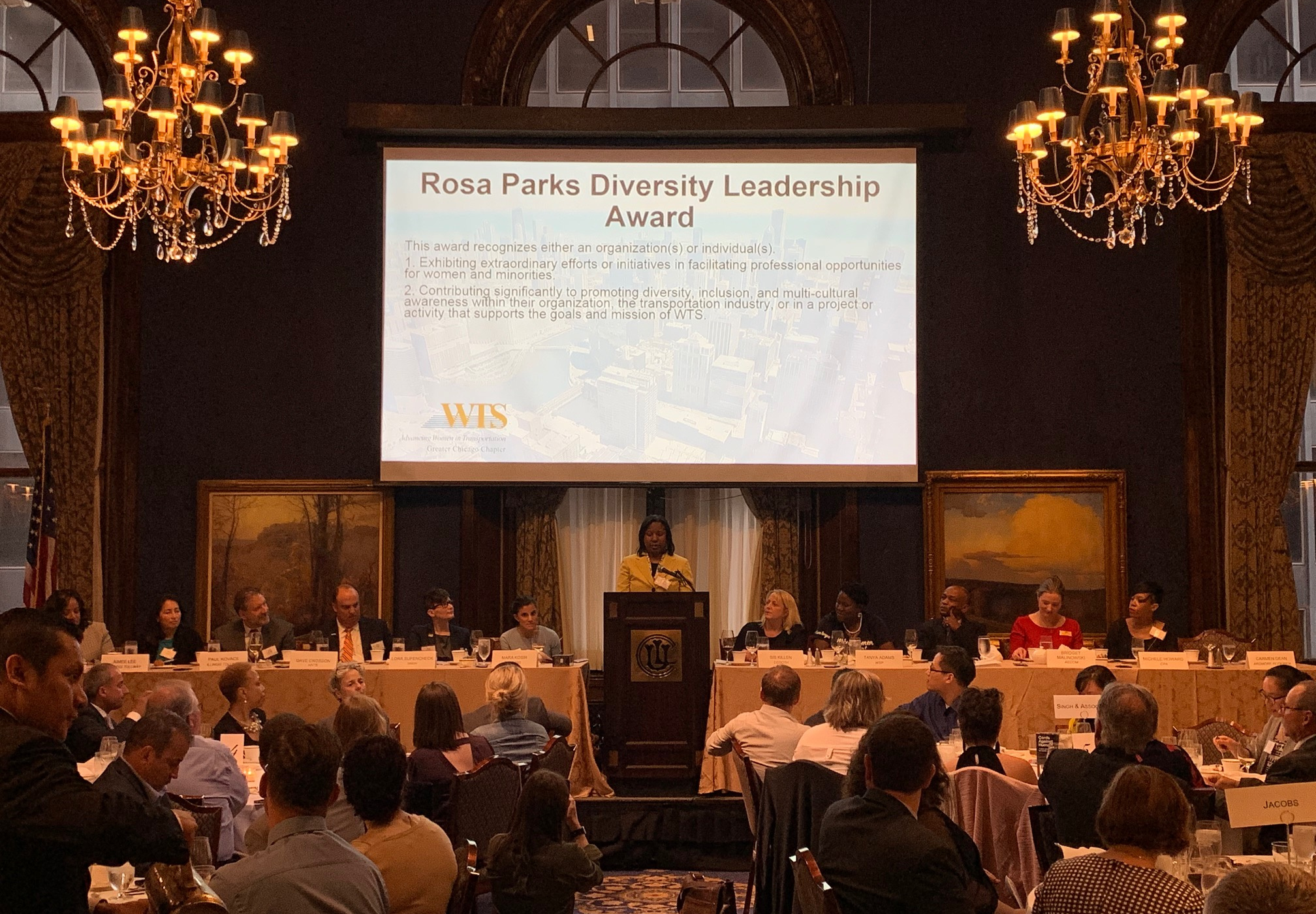 Ardmore Roderick Receives the 2019 WTS Rosa Parks Diversity Award